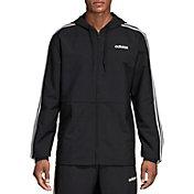 adidas Men's Essentials 3-Stripes Woven Windbreaker Jacket (Regular and Big & Tall)