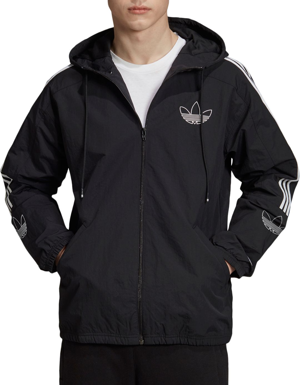 Adidas Black Hoodie Windbreaker Jacket