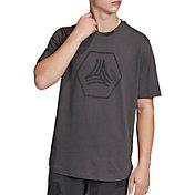 adidas Men's Tan Big Logo T-Shirt
