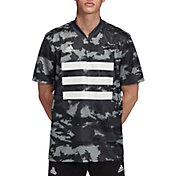 adidas Men's TAN Camouflage Graphic Short Sleeve Soccer Jersey