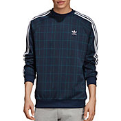 adidas Originals Men's Tartan Crewneck Sweatshirt