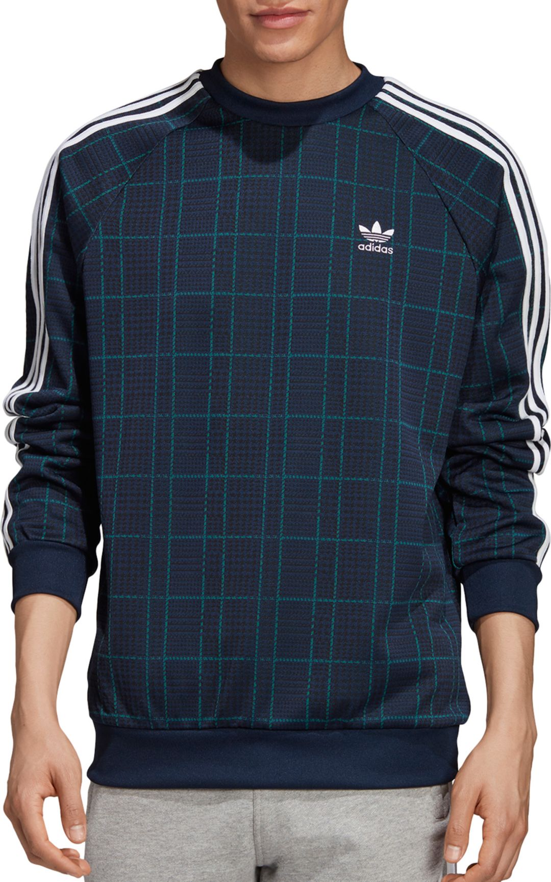 adidas original three colours sweatshirt crewneck