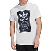 adidas Originals Men's Tartan Tongue Label T-Shirt