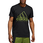 adidas Men's Wanted Logo Basketball T-Shirt (Regular and Big & Tall)