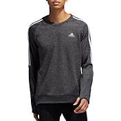 adidas Men's Own The Run 3-Stripes Crew Sweatshirt