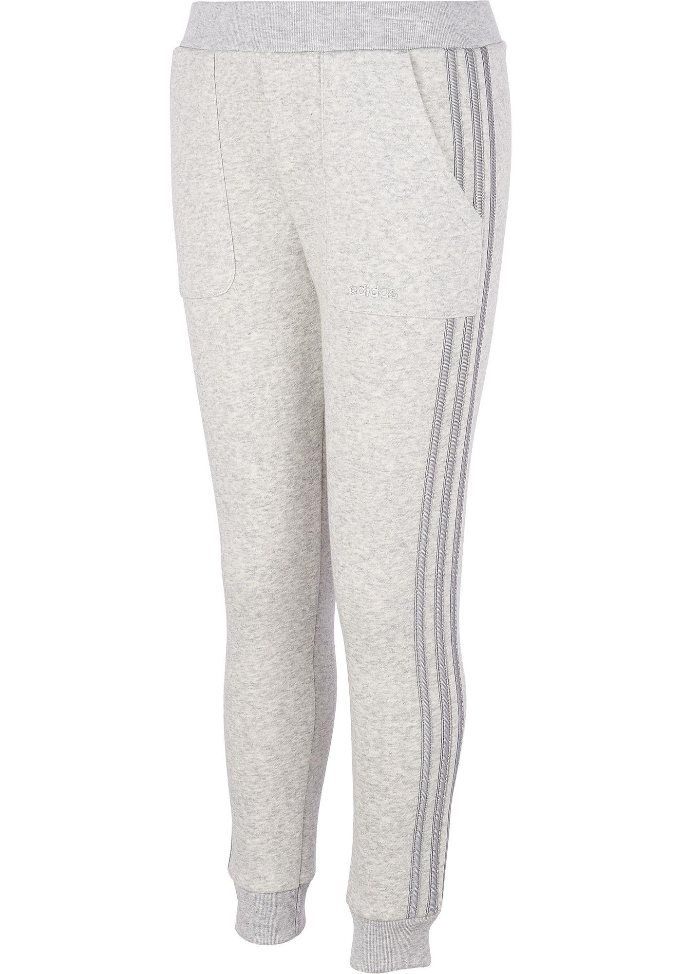 adidas Little Girls' Fleece Stripe Jogger Pants