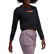 adidas Women's 3-Stripe Performance Pullover Crewneck
