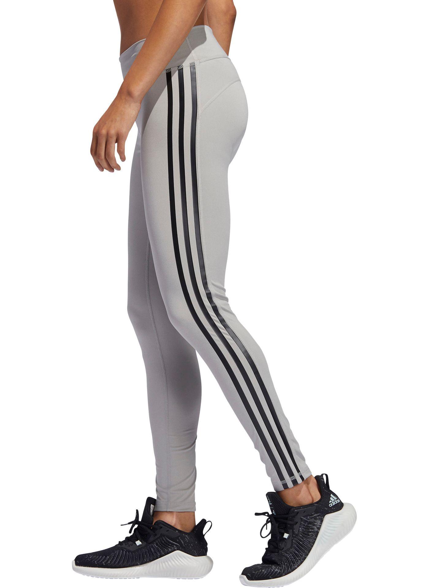 adidas Women's Believe This Solid 3-Stripe Leggings