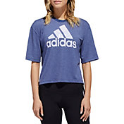 adidas Women's Must Haves Badge Of Sport Burnout Graphic T-Shirt