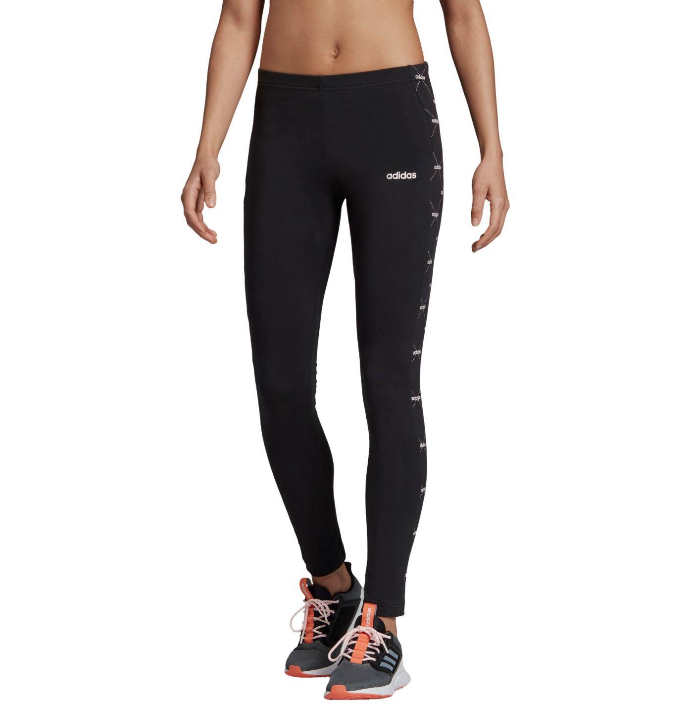 adidas Women's Core Favorites Linear Graphic Leggings