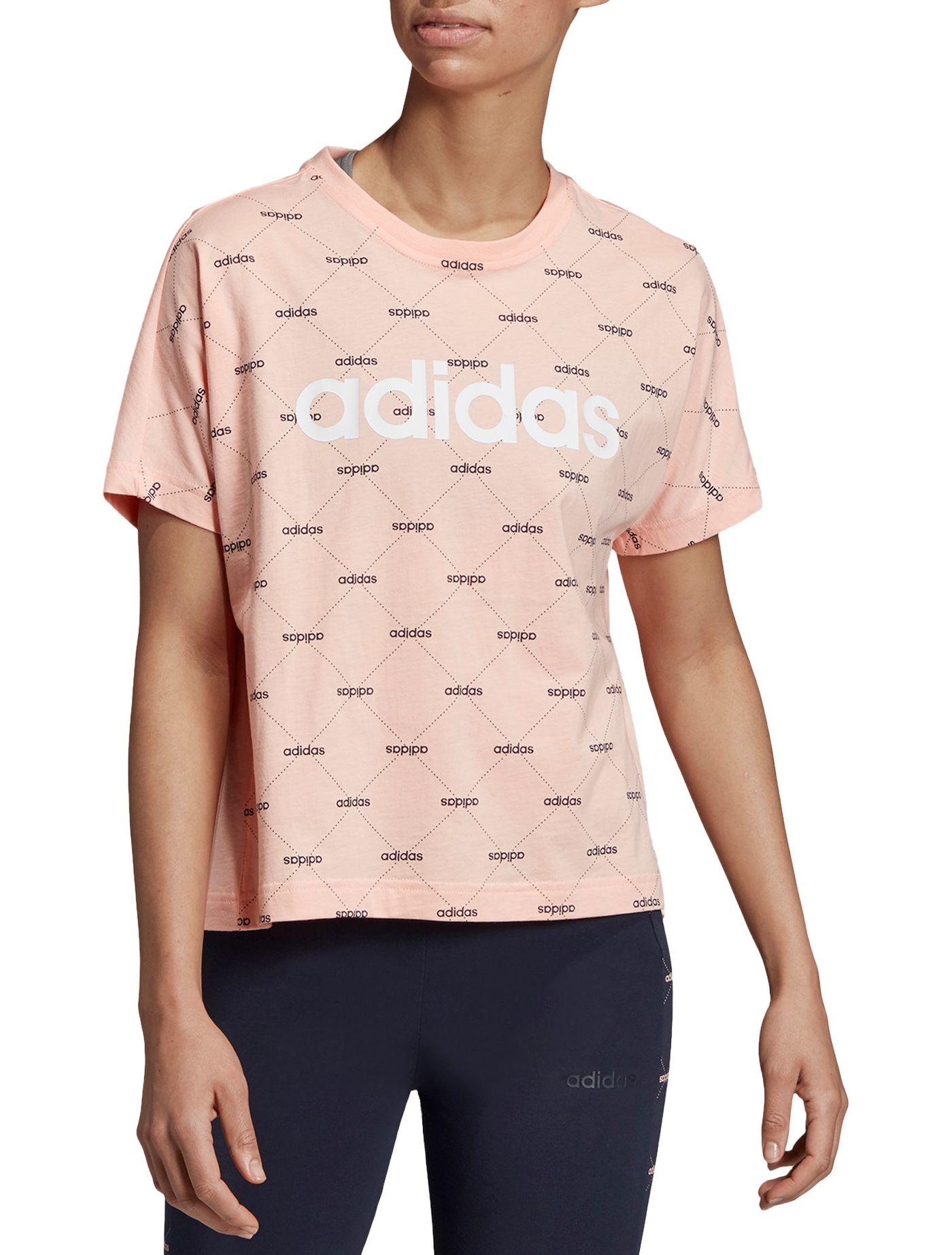 adidas Women's Core Favorites Linear Graphic T-Shirt