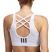 adidas Women's Don't Rest 3-Stripes Sports Bra
