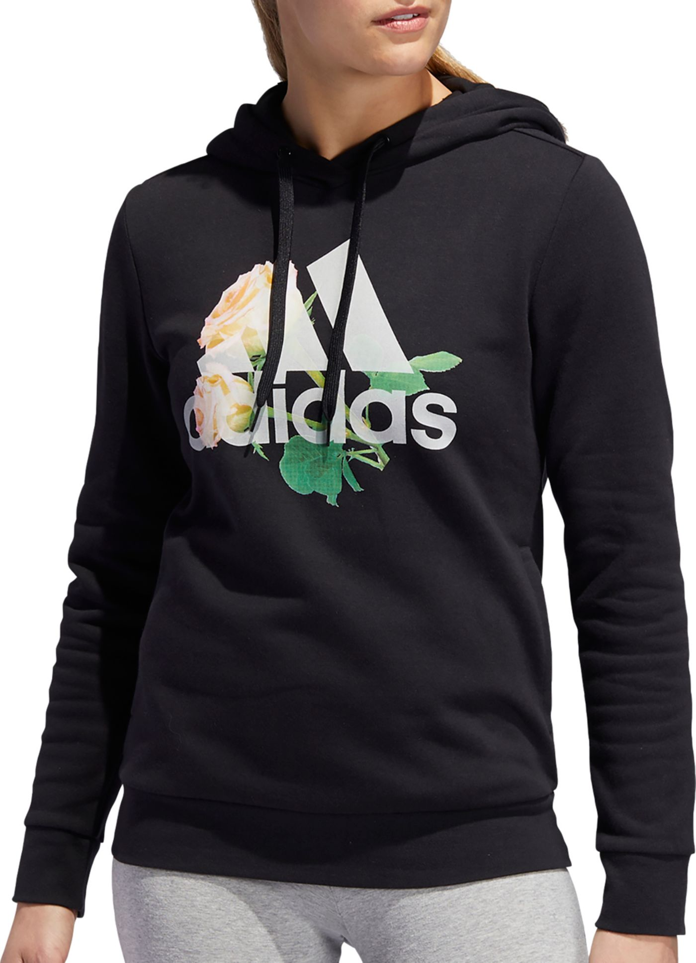 adidas Women's Floral Badge Of Sports Hoodie