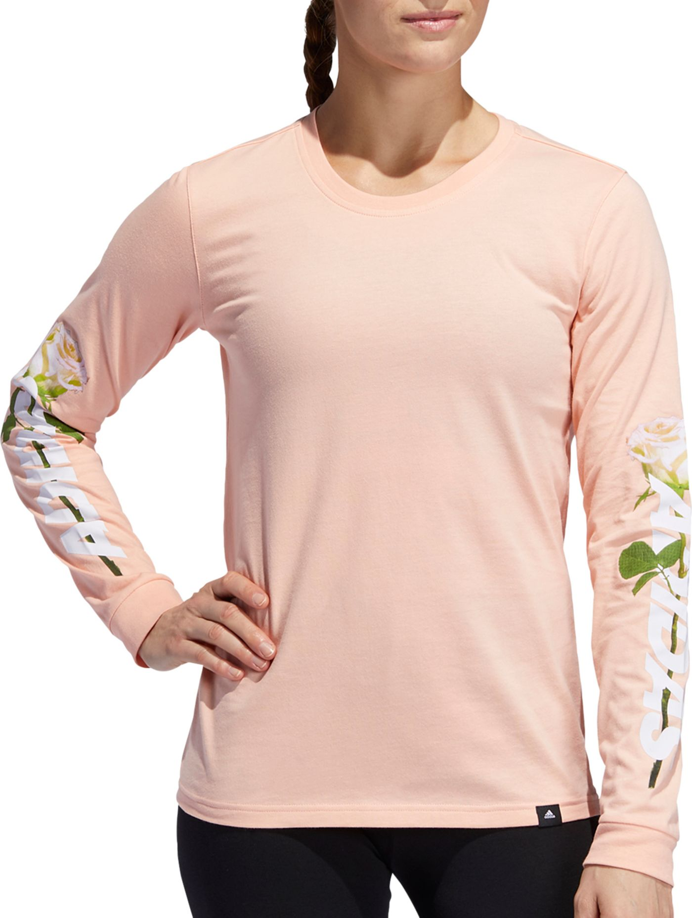 adidas Women's Floral Long Sleeve Shirt