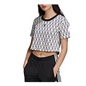 adidas Women's Original Foundation Mono Cropped T-Shirt