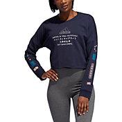 adidas Women's Global Crew Neck Crop Sweatshirt