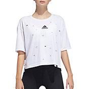 adidas Women's Geo Universal Graphic Crop T-Shirt