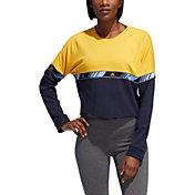 adidas Women's Hyper Crew Neck Crop Sweatshirt