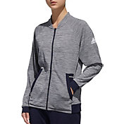 adidas Women's Knit Grey Six Tennis Jacket