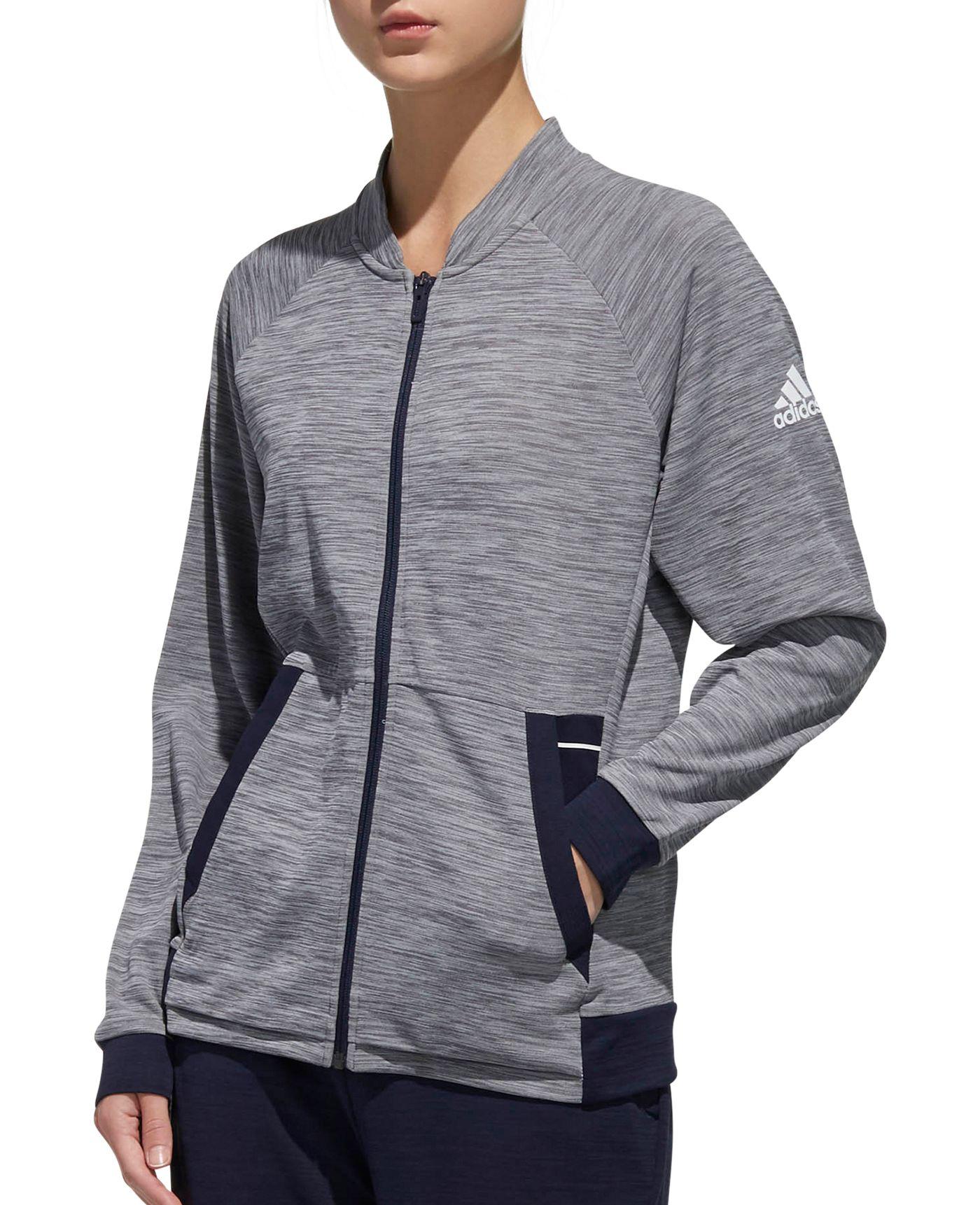 adidas Women's Knit Grey Six Tennis Jacket