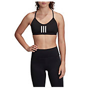 adidas Women's All Me 3 Stripes Mesh Bra
