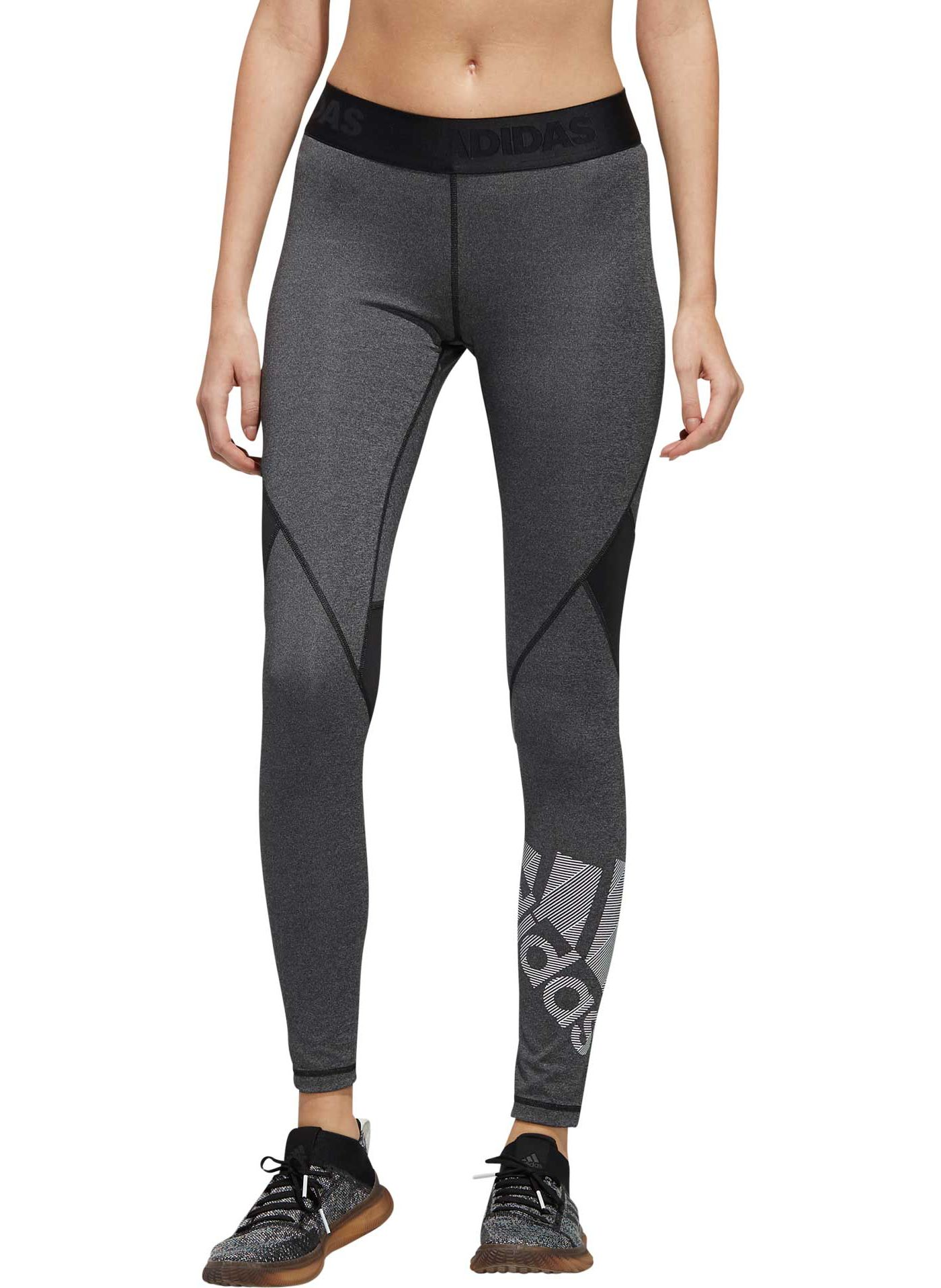 adidas Women's Alphaskin Badge Of Sport Long Tights