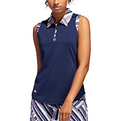 adidas Women's Ultimate365 Printed Sleeveless Golf Polo