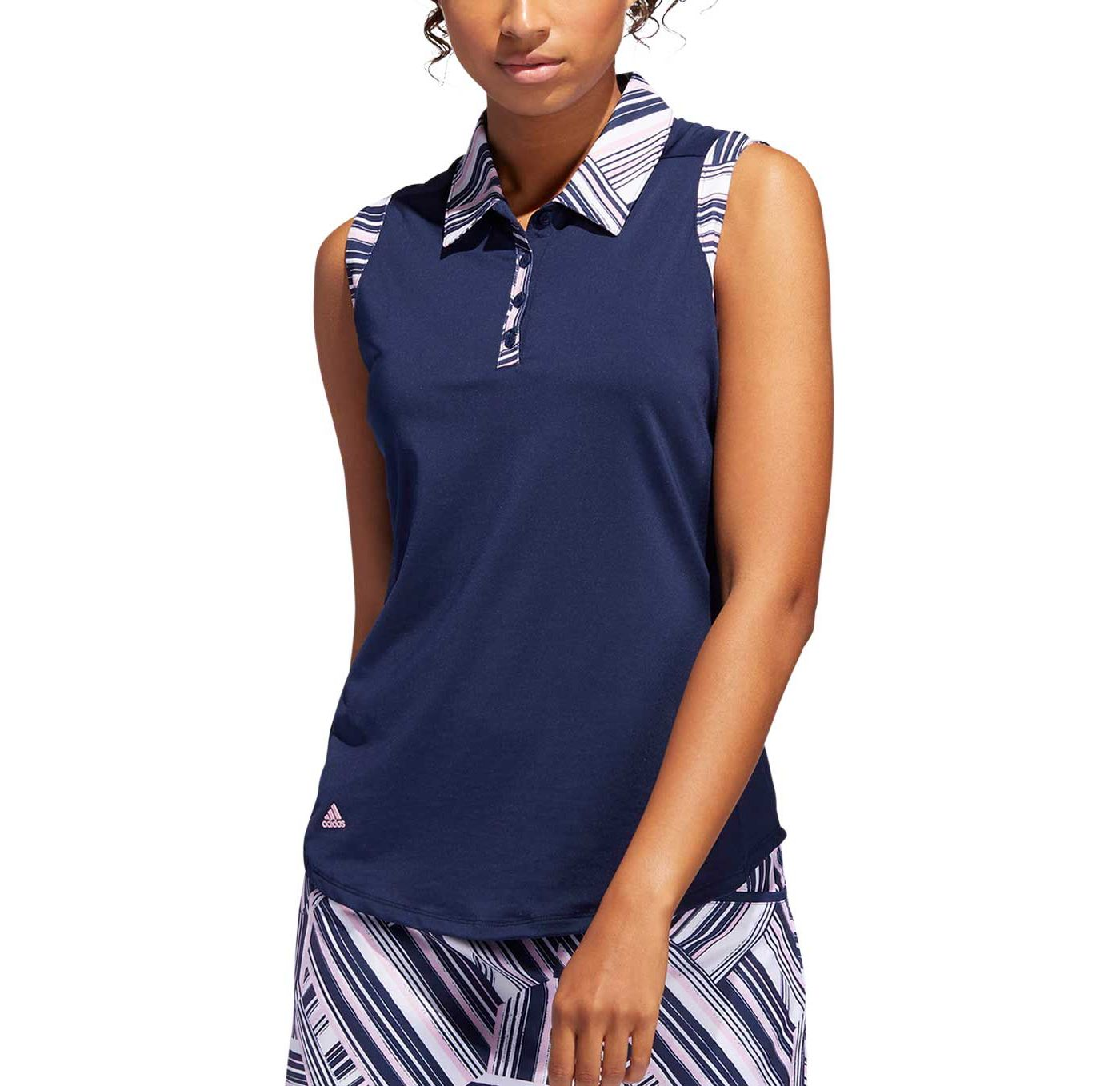adidas Women's Ultimate365 Printed Sleeveless Golf Polo
