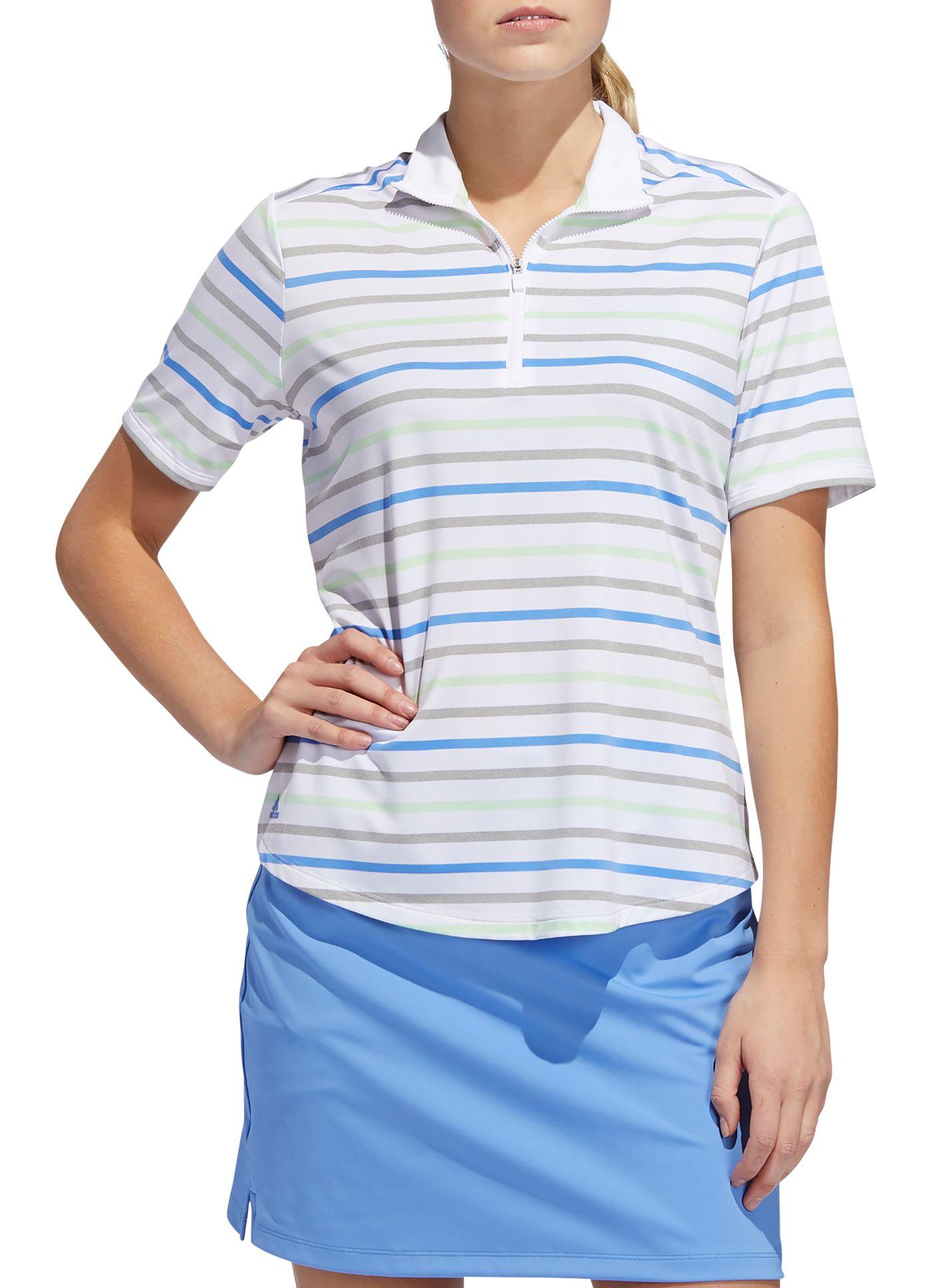 adidas Women's Ultimate365 Stripe Golf Polo