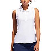 adidas Women's Microdot Sleeveless Golf Polo