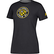 adidas Women's Columbus Crew Logo Performance Black T-Shirt
