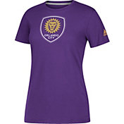 adidas Women's Orlando City Logo Performance Purple T-Shirt