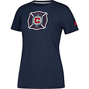 adidas Women's Chicago Fire Logo Performance Navy T-Shirt