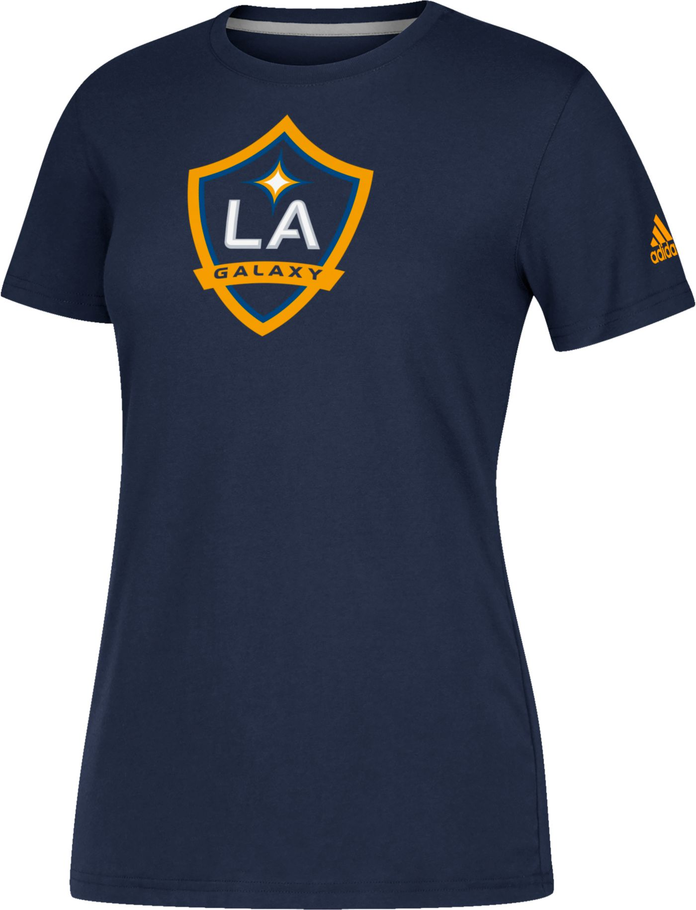 adidas Women's Los Angeles Galaxy Logo Performance Navy T-Shirt