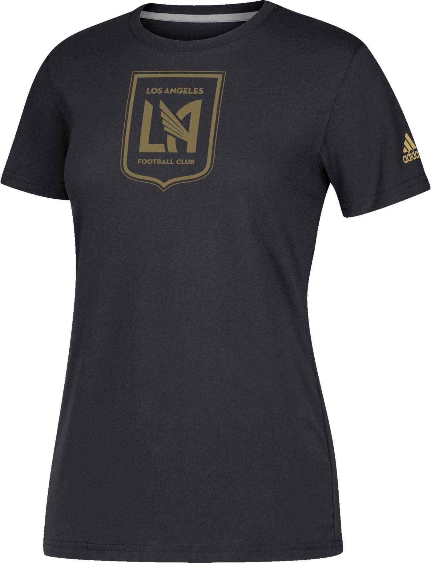 adidas Women's Los Angeles FC Logo Performance Black T-Shirt