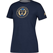 adidas Women's Philadelphia Union Logo Performance Navy T-Shirt
