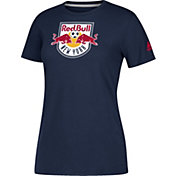 adidas Women's New York Red Bulls Logo Performance Navy T-Shirt