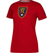 adidas Women's Real Salk Lake Logo Performance Red T-Shirt