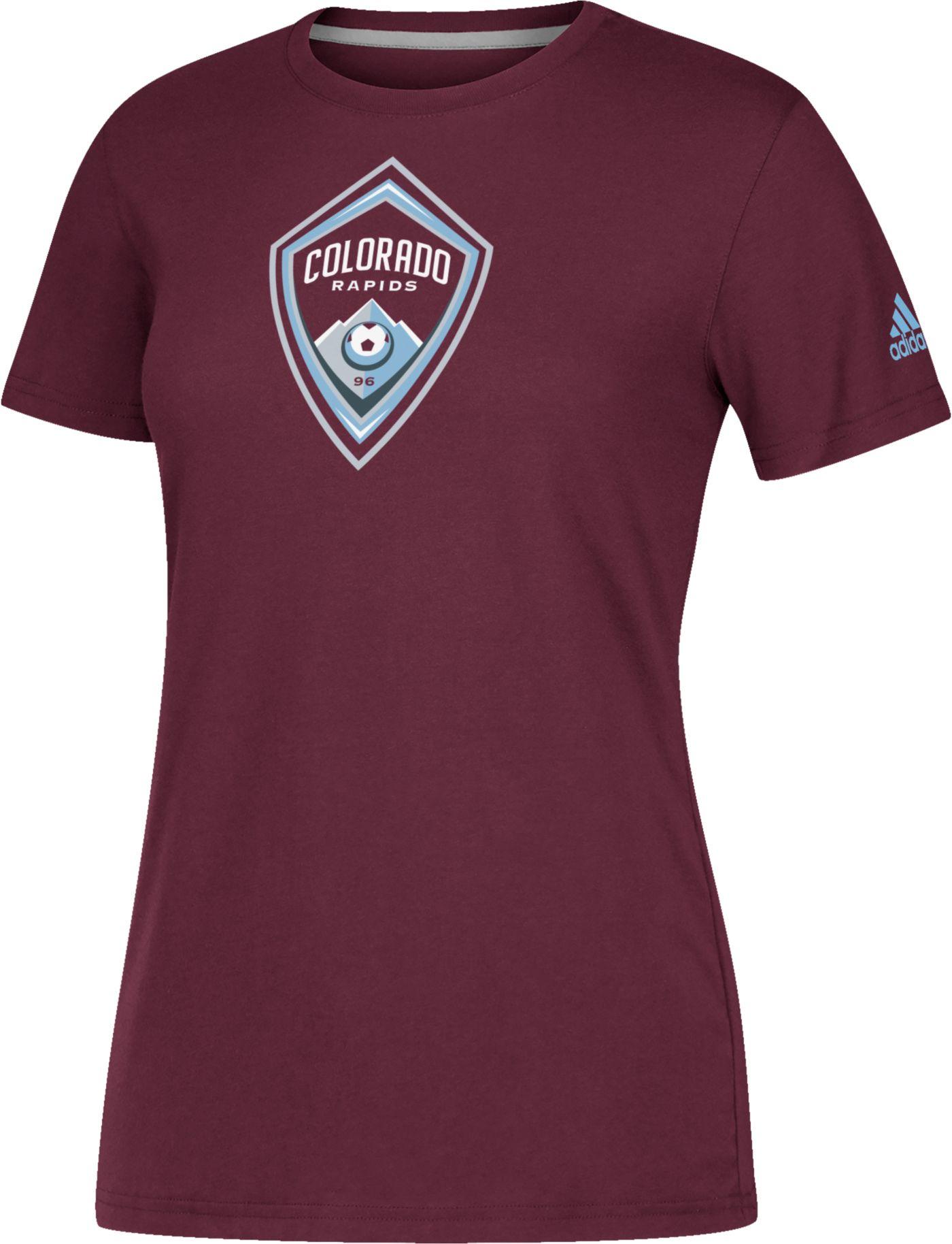 adidas Women's Colorado Rapids Logo Performance Maroon T-Shirt