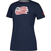 adidas Women's New England Revolution Logo Performance Navy T-Shirt