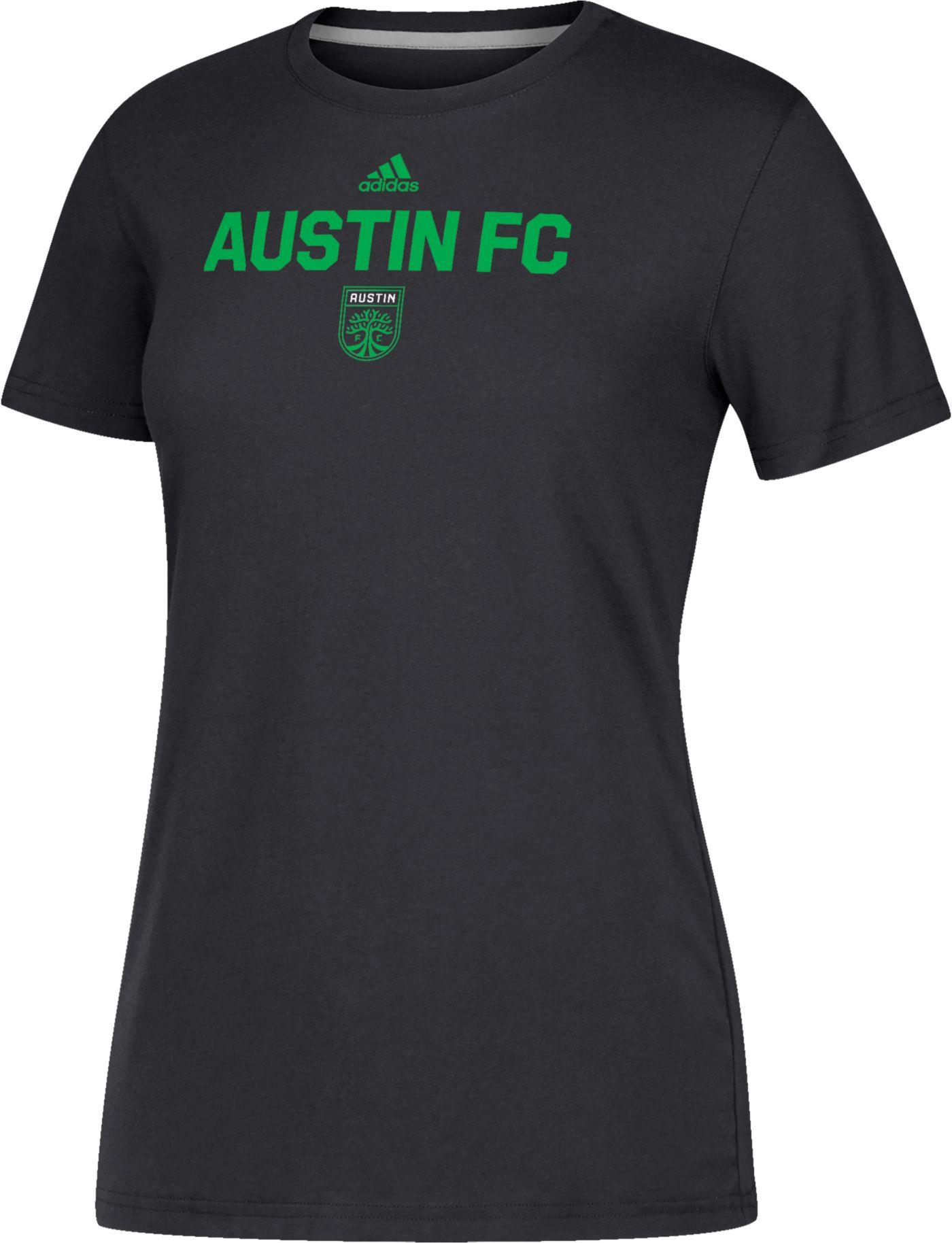 adidas Women's Austin FC Wordmark Black T-Shirt