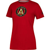 adidas Women's Atlanta United Logo Performance Red T-Shirt