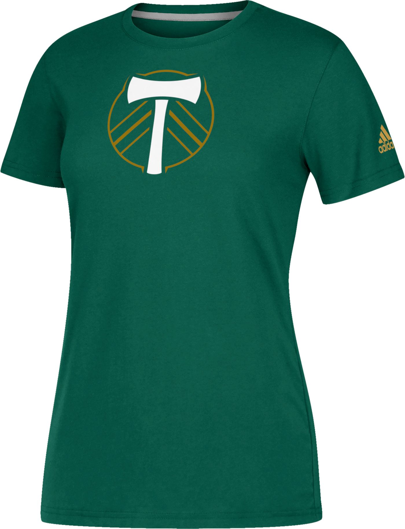 adidas Women's Portland Timbers Logo Performance Green T-Shirt