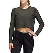 adidas Women's Mesh Coverup Long Sleeve T-Shirt