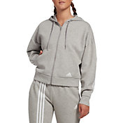 adidas Women's Must Have 3-Stripes Full Zip Hoodie
