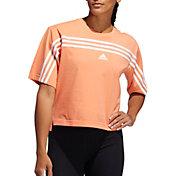 adidas Women's Must Haves Ringer 3-Stipes T-Shirt