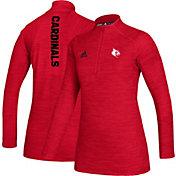 adidas Women's Louisville Cardinals Cardinal Red Game Mode Sideline Quarter-Zip Shirt