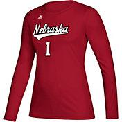 adidas Women's Nebraska Cornhuskers Scarlet Creator Long Sleeve Volleyball T-Shirt