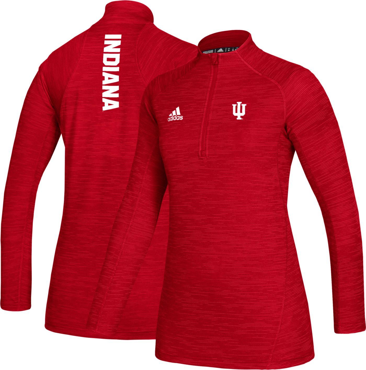 adidas Women's Indiana Hoosiers Crimson Game Mode Sideline Quarter-Zip Shirt