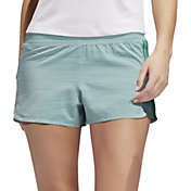 adidas Women's Pacer 3Stripe Heather Woven Shorts